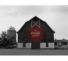 Coca-Cola Classic Barn Photographic Print