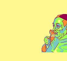 Pop Art Sipping Man  by lokibending