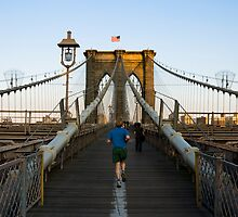 Brooklyn Bridge Runner by Louis Galli