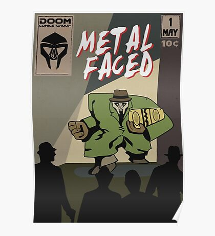Metal Faced - Comic Cover Poster
