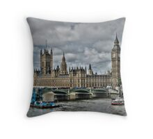 Houses of Parliment Throw Pillow