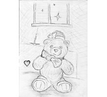 Lovely Teddy Bear Card Photographic Print