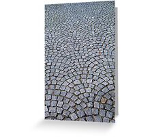 Stone pavers - Luneburg Germany Greeting Card
