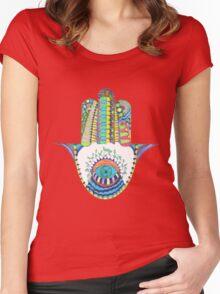 Hamsa Women's Fitted Scoop T-Shirt