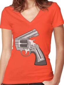 Let's call it: MY PRACTICAL PHILOSOPHY OF PEACE... Women's Fitted V-Neck T-Shirt