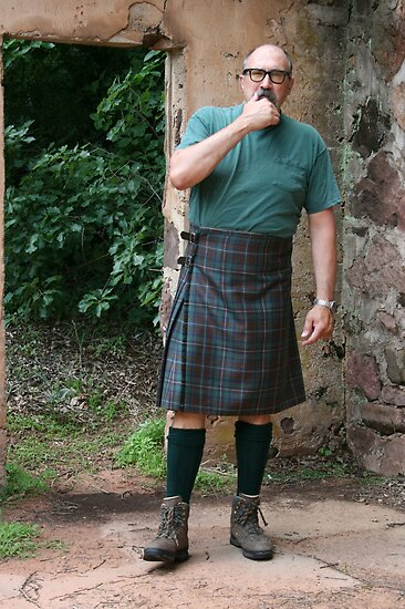 Jake, Contemplating the Kilt by L Hartley