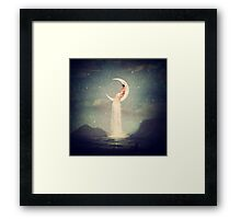 Moon River Lady Framed Print