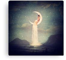 Moon River Lady Canvas Print