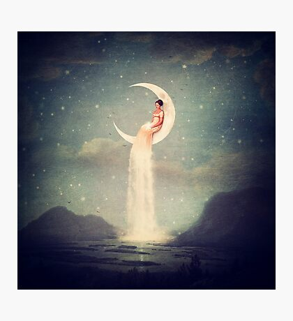 Moon River Lady Photographic Print