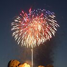 Fireworks over Mt. Rushmore by Patrick Czaplewski