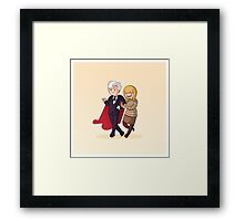 Adventure Time and Space! 3rd Doctor Framed Print