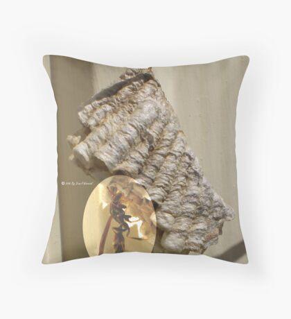Wasp enhanced Throw Pillow