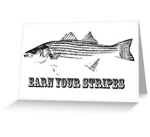striper. Greeting Card