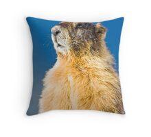 Marmot Portrait Throw Pillow