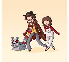 Adventure Time and Space! 4th Doctor by owlhaus