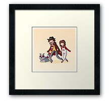 Adventure Time and Space! 4th Doctor Framed Print