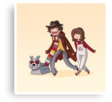 Adventure Time and Space! 4th Doctor Canvas Print