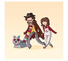 Adventure Time and Space! 4th Doctor Photographic Print