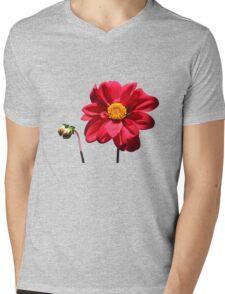 Dahlia flower w/Bud ~ T Mens V-Neck T-Shirt