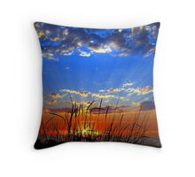 Dog Days Sunset Eight Throw Pillow