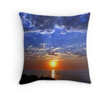 Dog Days Sunset Three Throw Pillow
