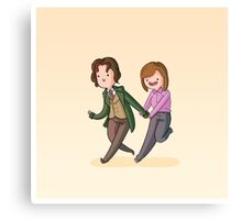 Adventure Time and Space! 8th Doctor Canvas Print