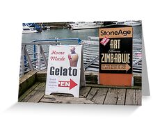 Sandwich Boards and others Greeting Card