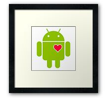 Android Robot Love Framed Print