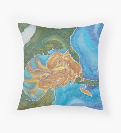 Katrina in the Gulf Throw Pillow