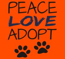 PEACE LOVE ADOPT (blue) Kids Clothes