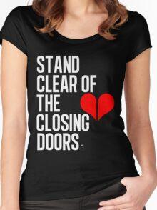 Closing doors Black Women's Fitted Scoop T-Shirt