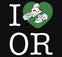 I PNW:GB OR (black) Green Heart v2 One Piece - Short Sleeve