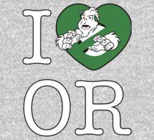 I PNW:GB OR (black) Green Heart v2 Kids Tee