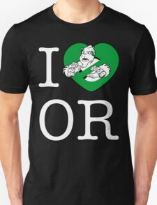 I PNW:GB OR (black) Green Heart v2 T-Shirt