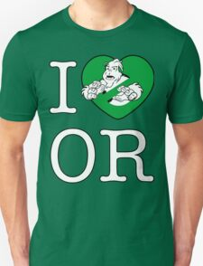 I PNW:GB OR (black) Green Heart v2 T-Shirt