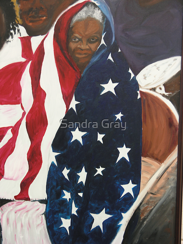 Katrina, waiting for relief. by Sandra Gray