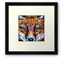 Red Fox Stare Painting Wildlife Art Country Living Framed Print