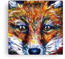 Red Fox Stare Painting Wildlife Art Country Living Canvas Print