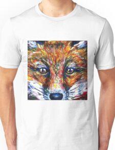 Red Fox Stare Painting Wildlife Art Country Living Unisex T-Shirt