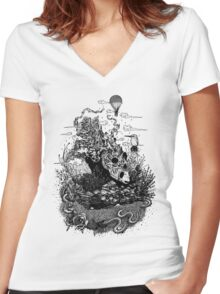 Land of the Sleeping Giant Women's Fitted V-Neck T-Shirt