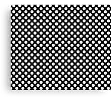 Black and white polka dots pattern Canvas Print