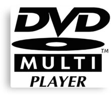 DVD Multi Player Canvas Print