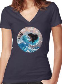 The Unstoppabull Force Women's Fitted V-Neck T-Shirt