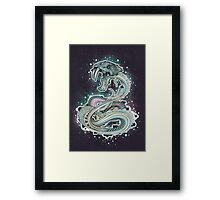 Saber-toothed Serpent in Space Framed Print