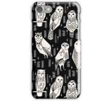 Parliament of Owls - Black & White by Andrea Lauren iPhone Case/Skin