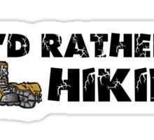 Rather Be Hiking Sticker