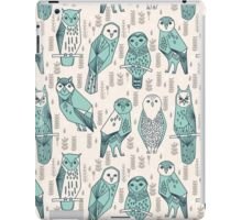 Parliament of Owls - Pale Turquoise by Andrea Lauren iPad Case/Skin