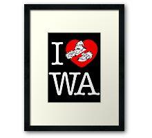 I PNW:GB WA (black) v2 Framed Print