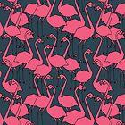 Flock of Flamingos by Andrea Lauren by Andrea Lauren