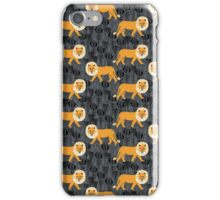 Safari Lion Pattern by Andrea Lauren iPhone Case/Skin